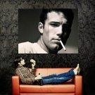 Ben Affleck Cigarette BW Portrait Actor Huge 47x35 Print Poster