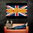 Def Leppard Union Jack Hard Rock Music Huge 47x35 Print Poster