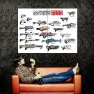 Mass Effect Weapons Game Art Huge 47x35 Print Poster
