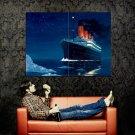 Titanic Night Iceberg History Art Huge 47x35 Print Poster