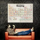 College Guide Boozing Periodic Table Huge 47x35 Print Poster