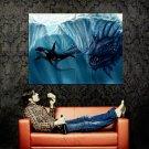 Killer Whale Giant Sea Monster Art Huge 47x35 Print Poster