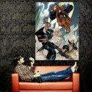 Spider Man X Men Marvel Comics Art Huge 47x35 Print Poster
