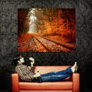 Autumn Leaves Golden Fall Nature Huge 47x35 Print Poster