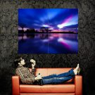 Awesome Landscape Reflection Nature Huge 47x35 Print Poster