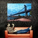 New York City NYC Manhattan Bridge Huge 47x35 Print Poster