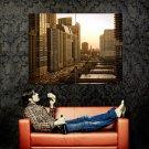 Chicago Illinois USA Cityscape Huge 47x35 Print Poster