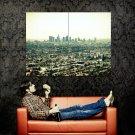 California LA City Los Angeles Cityscape Huge 47x35 Print Poster