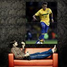 Neymar Da Silva Santos Brazil Football Huge 47x35 Print Poster