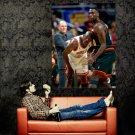 Shawn Kemp Vs Michael Jordan NBA Huge 47x35 Print Poster