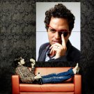 Mark Ruffalo Portrait Movie Actor Huge 47x35 Print Poster