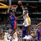 Ben Wallace Block Shaquille O Neal NBA 32x24 Print POSTER