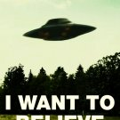 I Want To Believe Ufo X Files 32x24 Print Poster