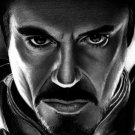 Iron Man Robert Downey Jr Movie Drawing Art 32x24 Print POSTER