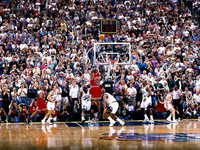 Michael Jordan The Shot Vs Jazz 1998 Finals 32x24 Print POSTER