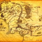 Map Of Middle Earth Lord Of The Rings 32x24 Print POSTER