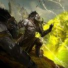 Guild Wars 2 Concept Art Trolls Mmorpg 32x24 Print Poster
