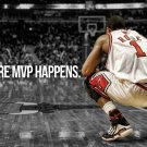 Derrick Rose Mvp Chicago Bulls Nba 32x24 Print Poster