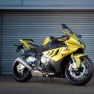 BMW S1000RR Yellow Super Bike Motorcycle 32x24 Print POSTER