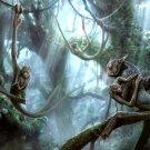 Alien Apes Sci Fi Animals Art 32x24 Print POSTER
