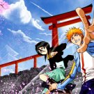 Bleach Sakura Drops Anime Manga Art 32x24 Print POSTER