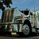 Peterbilt Truck Chrome Heavy Vehicle Car 32x24 Print POSTER