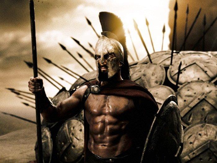 King Leonidas Shields Gerard Butler Spartans Movie 32x24 Print POSTER