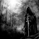 Lord Of The Rings Nazgul Sword Dark Art 32x24 Print POSTER