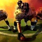 American Football Players Sport Art 32x24 Print POSTER