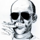 Hunter S Thompson Portrait Dr Gonzo Dot Art 32x24 Print POSTER