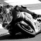 Valentino Rossi MotorGP Superbike Racing BW Sport 32x24 Print POSTER