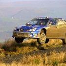 Subaru Impreza Rally Jump Dirt Car Sport 32x24 Print POSTER
