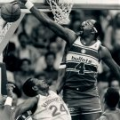 Moses Malone Block Washington Bullets BW NBA Basketball 32x24 POSTER