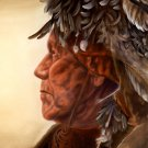 Native American Portrait Painting Art Indians 32x24 POSTER