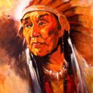 Native American Chief Painting Art Indians 32x24 POSTER