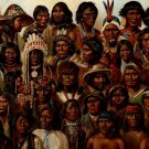 Native Americans Folk Groups Tribes Indians 32x24 POSTER