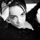 Alizee Hot French Singer BW Music 32x24 Print POSTER