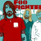 Foo Fighters Vector Art Rock Music 32x24 Print POSTER