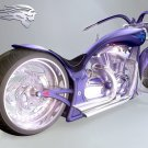Blue Wraith Chopper Concept Bike 32x24 Print POSTER