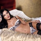 Hot Brunette Girl Sexy Lingerie Stocking 32x24 Print POSTER