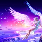 Angel Girl Snow Fairy Magic Fantasy Art 32x24 Print POSTER