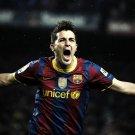 David Villa Barcelona Football Sport 32x24 Print POSTER
