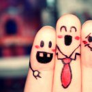 Emotions Funny Fingers Cool Mood 32x24 Print POSTER