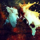 Agression Scream Splashes Mood 32x24 Print Poster