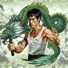 Bruce Lee Dragonman Kung Fu Male 32x24 Print POSTER
