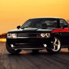 Dodge Challenger Black Muscle Car Auto 32x24 Print POSTER