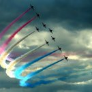 Air Show Color Smoke Aircraft 32x24 Print Poster
