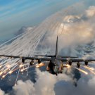 Military Flares Clouds Aircraft 32x24 Print Poster