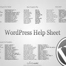 WordPress Help Sheet Cool Hi Tech 32x24 Print Poster