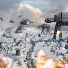Epic Battle Hoth AT AT Star Wars 32x24 Print Poster